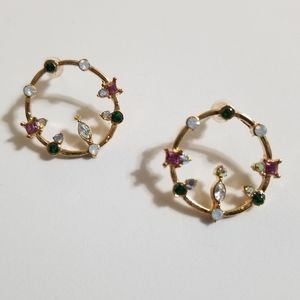 Iridescent Gem Earrings